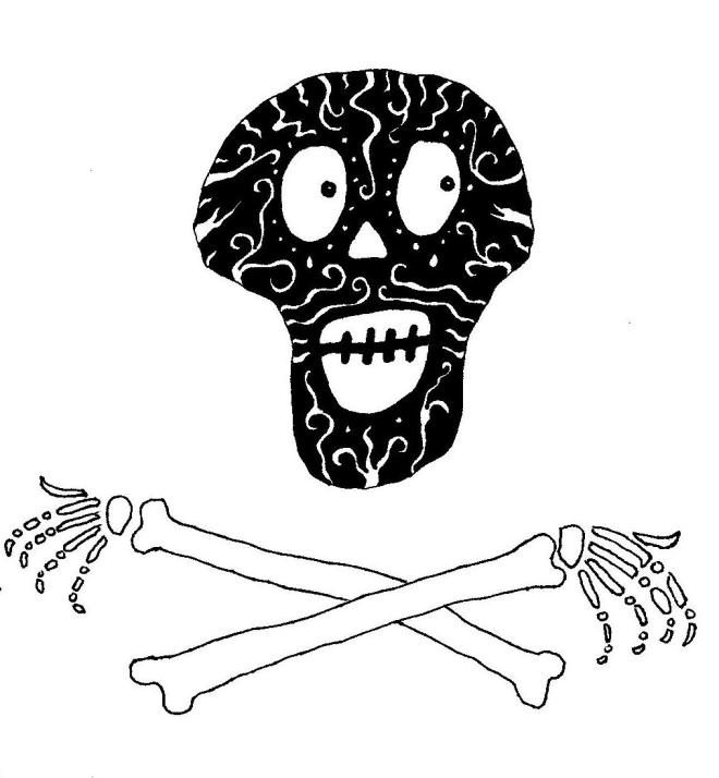 a skull and crossbones drawing art by phoebe thomasson artist