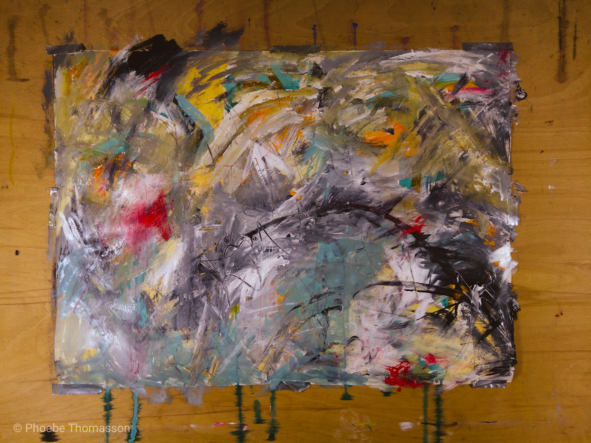 abstract painting by phoebe thomasson